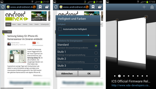 samsung galaxy s3 browser