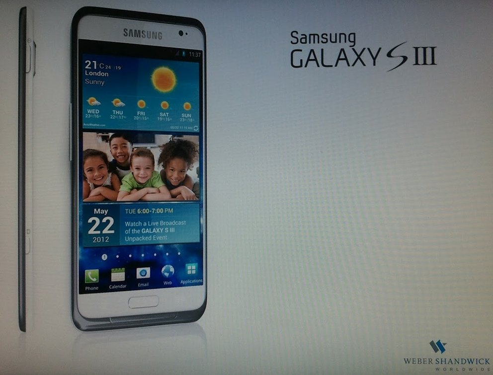 Samsung Galaxy S3: Erstes echtes Bild, Vorstellung am 22. Mai in London