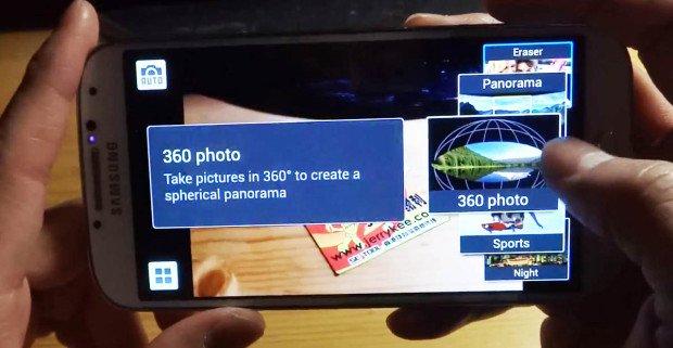 "Samsung Galaxy S4: Photosphere-Funktion heißt ""360 Photo"" statt ""Orb"""