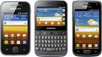 Galaxy Y, Y-Pro, M-Pro, W: Neue Samsung-Smartphones, neues Namensschema