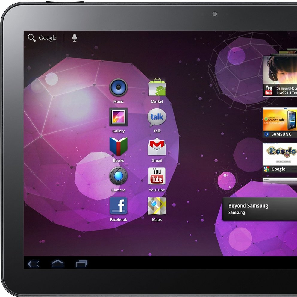 Samsung Galaxy Tab 10.1 hat das beste Tablet-Display
