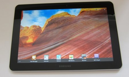 samsung galaxy tab 10.1: software