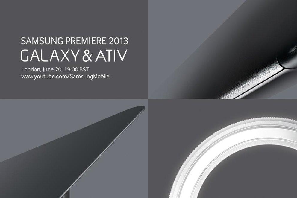 Samsung Galaxy &amp&#x3B; ATIV: Vorstellung neuer Geräte am 20. Juni in London