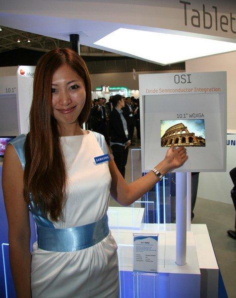 Samsung zeigt 10,1 Zoll Display mit 2560x1600 Pixel für künftige Tablets