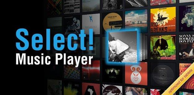 Select!: Music-Player speziell für Tablets veröffentlicht
