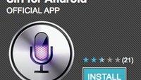 """Siri für Android: """"offizielle"""" App legt kurzen Zwischenstopp im Android Market ein"""