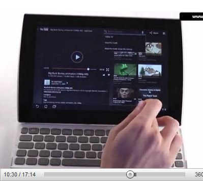 Asus Eee Pad Slider im Unboxing-Video