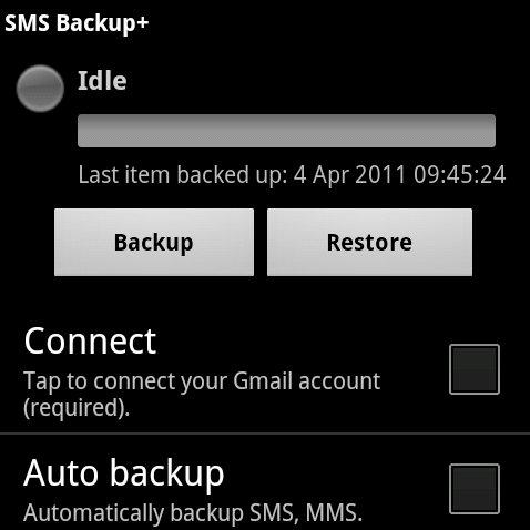 SMS Backup+: SMS automatisch bei Google Mail sichern
