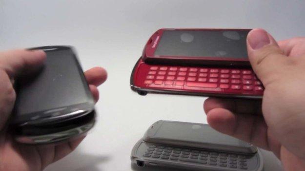 Sony Ericsson Xperia Pro: Hands-on-Video vom Schiebetastatur-Smartphone