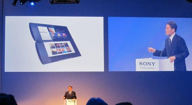 Sony Tablet P: Unser Hands-on-Video zum Klapp-Tablet [IFA 2011]