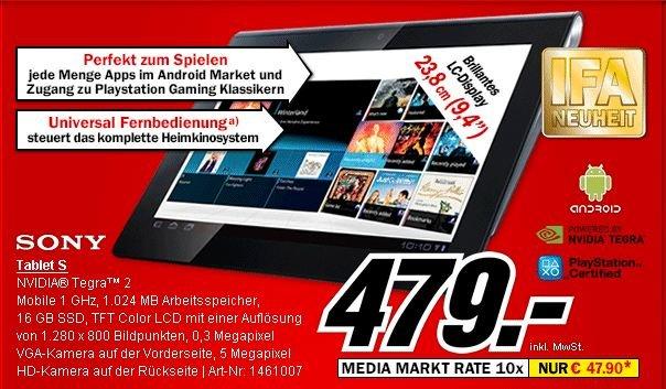 Sony Tablet S ab morgen bei Media Markt