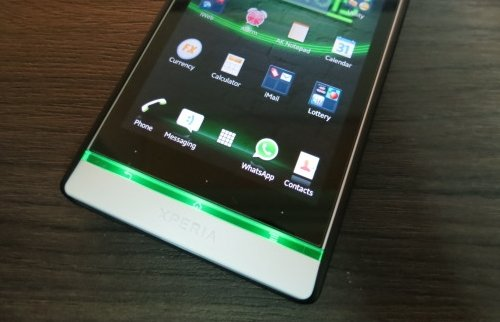 sony xperia s green