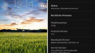 """Sony Xperia T: Update auf """"Jelly Bean"""" jetzt verfügbar"""
