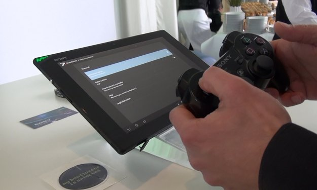 Sony Xperia Tablet Z: PS3 Controller Pairing Demoed [exclusive] [droidcon 2013]