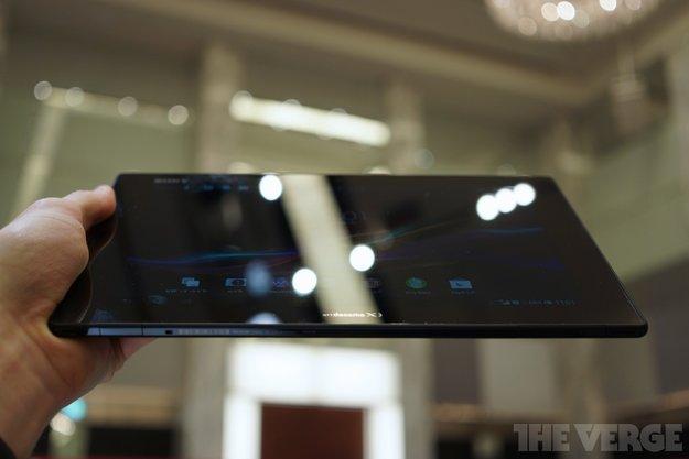 Sony Xperia Tablet Z: Fotos und Hands-On-Video des schlanken Tablets gesichtet