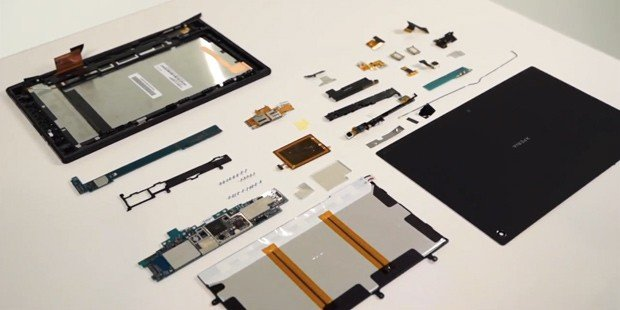 Sony Xperia Tablet Z-Teardown: Gerät im Video auseinandergenommen