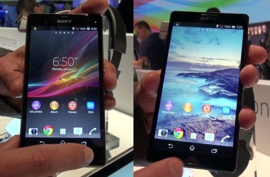 Sony Xperia Z und ZL: Hands-On-Videos der Smartphones [CES 2013]