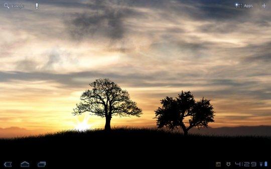 Live Wallpaper Sun Rise: Da geht die Sonne auf