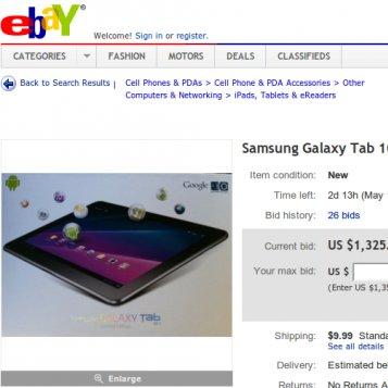 Samsung Galaxy Tab 10.1: Von der Google I/O direkt zu ebay