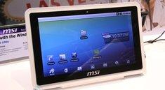 MSI WindPad 100W und WindPad 100A - Android und Windows die neuen Tablet PCS von MSI