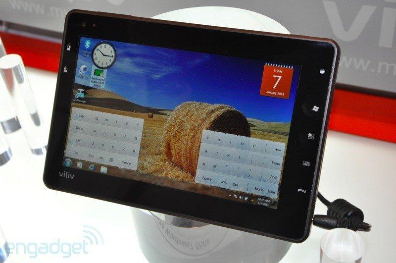 Viliv X70 Slate – Windows Tablet mit neuem Intel Oak Trail Prozessor