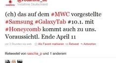 Samsung Galaxy Tab 10.1 ab April bei Vodafone