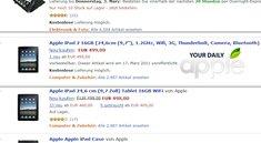 Apple iPad 2 mit 1,2GHz Prozessor für 499€ kurz bei Amazon gelistet