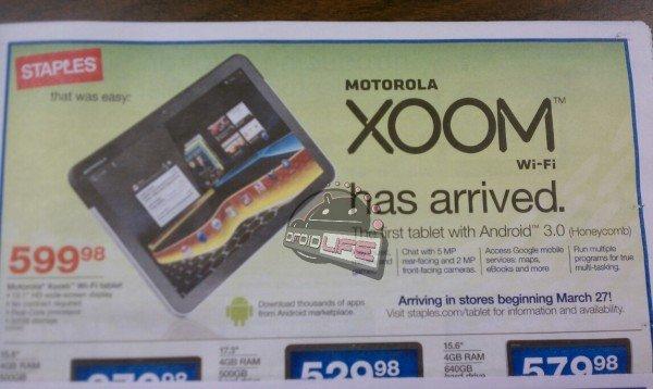 Motorola Xoom Wifi-only in den USA ab dem 27. März?
