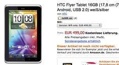 HTC Flyer Wifi-only für 499€ nun auch bei Amazon zu kaufen / bestellen