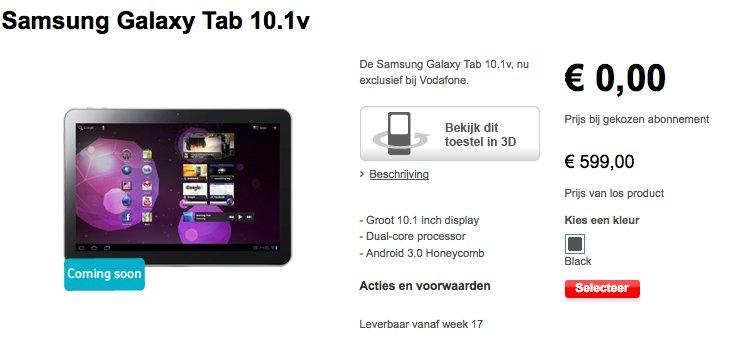 Samsung Galaxy 10.1v noch im April für 599€ zu kaufen