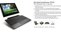 Asus Eee Pad Transformer: Offizielle Seite online
