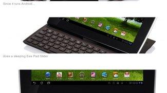 Asus Eee Pad Slider mit Keyboard kommt erst im Herbst