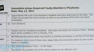 RIM ruft über 900 BlackBerry Playbooks zurück