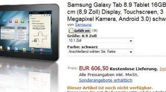Samsung Galaxy Tab 8.9 in schwarz und weiß auf Amazon zum Vorbestellen