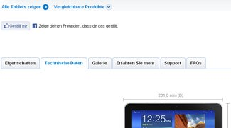 Offizielle Seite des Samsung Galaxy Tab 8.9 online