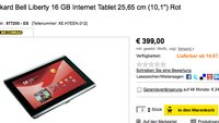 Packard Bell Liberty Internet Tablet 16GB und Android Honeycomb ab 14.07. für 399€