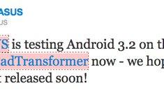 Asus Eee Pad Transformer bekommt bald Android 3.2