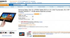 Samsung Galaxy Tab 10.1 ab 18. August und Galaxy Tab 8.9 ab 31. August bei Amazon