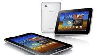 Samsung Galaxy Tab 7.0 Plus Android 4.1.2 Jelly Bean Update wird ausgerollt
