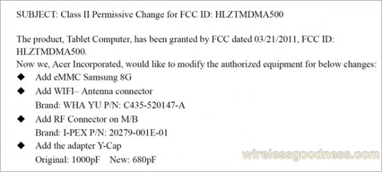 Bald günstigeres Acer Iconia Tab A500 mit 8GB?