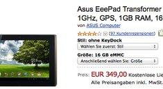 Asus Eee Pad Transformer 16Gb kostet nur noch 349€