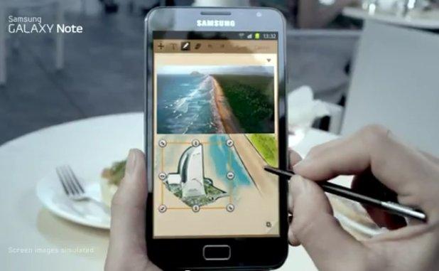 Erster Werbespot zum Samsung Galaxy Note wurde veröffentlicht