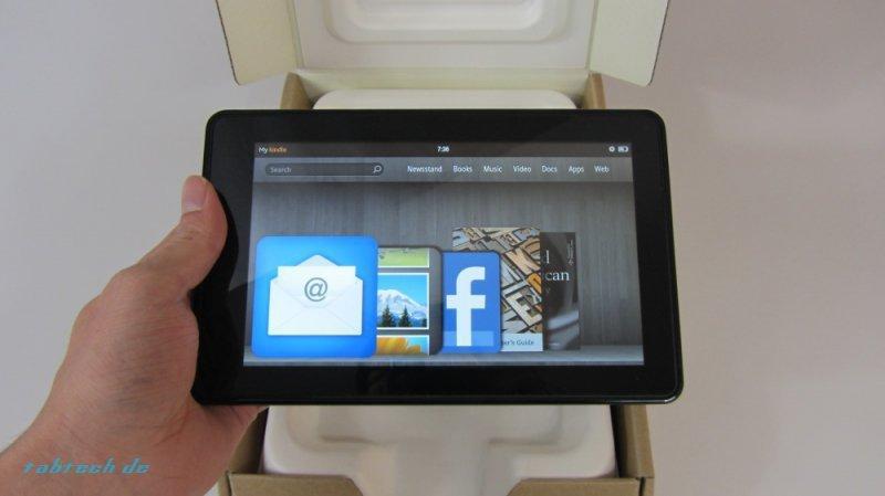 Amazon Kindle Fire Unboxing und Kurztest - Vergleich mit Huawei MediaPad (deutsches Video und Bilder)