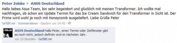 Asus Eee Pad Transformer erhält Update auf Android Ice Cream Sandwich erst nächstes Jahr