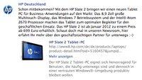 HP Slate 2 mit 8,9 Zoll und Windows 7 kommt im Januar 2012 für 699€