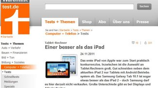 GALAXY Tab 10.1 bestes Tablet laut Stiftung Warentest
