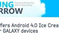 Samsung nennt Termin und Geräte für Android Ice Cream Sandwich Update