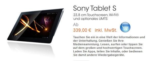 Deal: Sony Tablet S für Studenten ab 339€