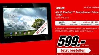 Asus Eee Pad Transformer Prime: erste Bestellungen von Amazon wurden ausgeliefert - ab morgen bei MediaMarkt!?