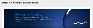Dell Streak 7 in den USA vom Markt genommen